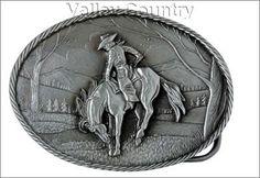 Bronc Rider Belt Buckle - Valley Country