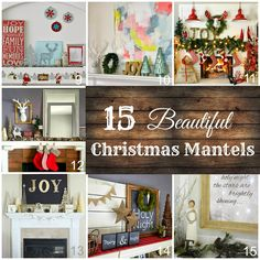 15 Beautiful Christmas Mantels to inspire your own home holiday decorating | Capturing-Joy.com