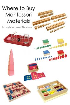 A long list of Montessori material suppliers along with a number of recommendations and links to helpful comments about where to buy Montessori materials; perfect for homeschools and classrooms - Living Montessori Now Montessori Homeschool, Montessori Elementary, Montessori Toys, Homeschool Curriculum, Homeschooling, Preschool Supplies, Preschool Toys, Craft Supplies, French Language Learning
