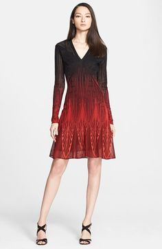 Roberto Cavalli Ombré Knit Fit & Flare Dress available at #Nordstrom
