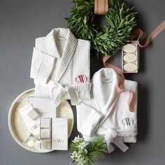 Williams-Sonoma Home Monogrammed Soap & Towel Gift Set | Williams-Sonoma