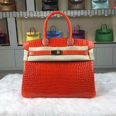 aa26eb81c1 Brand  Hermes  Style  Birkin Bag30cm  Material Crocodile shiny Leather (HCP