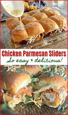 Build the ultimate gooey & cheesy party sliders with crispy chicken and dinner rolls!