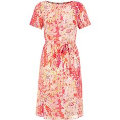 778f9aa954e1 Hobbs Pink Invitation Foxglove Dress for the Beulah long sleeve blossom print  dress