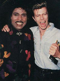 David Bowie with Little Richard, one of his idols.