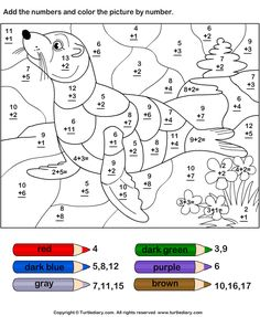 Download and print Turtle Diary's Add and Color Based on Given Code worksheet. Our large collection of math worksheets are a great study tool for all ages.