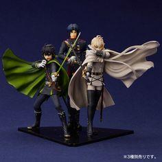 Seraph of the End- Guren Ichinose, Yuichiro Hyakuya, and Mikaela Hyakuya figures