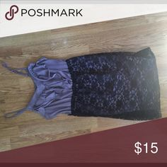 Very cute Purple and Black Lace dress Perfect condition. Worn 2 times. Dresses Midi