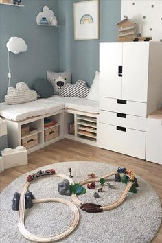 Creative Trendy Children's room design for kids of different ages - #ages #Childrens #CREATIVE #Design #Kids #Room #trendy #zimmer Baby Bedroom, Baby Room Decor, Nursery Room, Girl Room, Girls Bedroom, Toddler Rooms, Kids Room Design, Room Inspiration, Bed Wall
