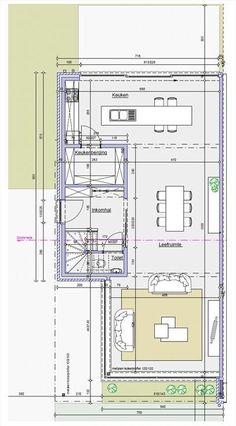 Te koop - Huis 3 slaapkamer(s) - bewoonbare oppervlakte: 205 m2 - Verder af te werken half open bebouwing (bouwjaar 2015) Vraagprijs 264.000€: verkoop onder btw stelsel ( geen registratierechten ). Op een top ligging - bouwjaar: 2015-01-01 00:00:00.0 - dubbel glas Build My Own House, Famous Architects, Kitchen Layout, Home Deco, Planer, Bungalow, House Plans, New Homes, Floor Plans