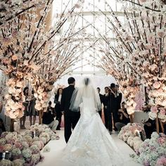 18 Drop Dead Gorgeous Winter Wedding Ideas cherry blossom wedding aisle decorations for winter weddi Wedding Aisles, Wedding Ceremony Ideas, Wedding Church Aisle, Aisle Runner Wedding, Winter Wedding Decorations, Wedding Themes, Wedding Ceremonies, Aisle Runners, Church Decorations
