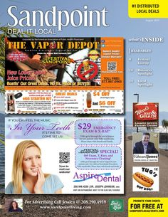 August 2015 Sandpoint Deal It Local | Sandpoint Idaho | www.sandpointliving.com