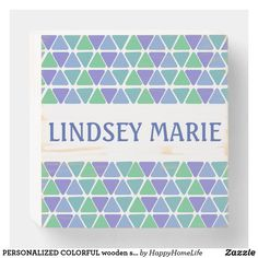 PERSONALIZED COLORFUL wooden sign. A great gift for a friend, family member, co-worker, etc. #personalized #woodenboxsign #initial sign #personalizedwoodenboxsign