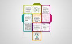 Marca y folleto cubo para Museo infantil de las ciencia by Inma Alcón, via Behance