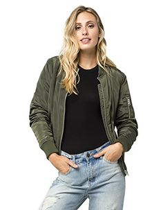 FULL TILT Sherpa Womens Bomber Jacket