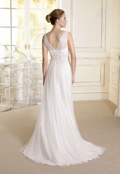 14f37a0a4 Vestido de novia Modelo Emely. Colección 2017 de Novia Dart en Eva Novias  Madrid.