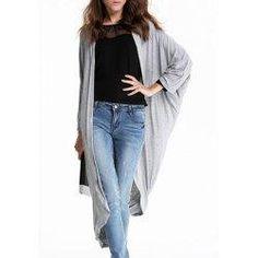#trendsgal.com - #Trendsgal Collarless Long Sleeve Solid Color Blouse - AdoreWe.com