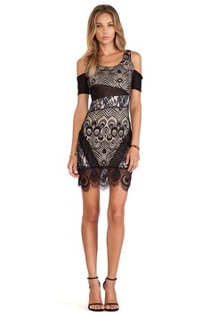 11ac7a6d686 Shop for Lovers + Friends Right Now Bodycon Dress in Black   Navy at  REVOLVE.