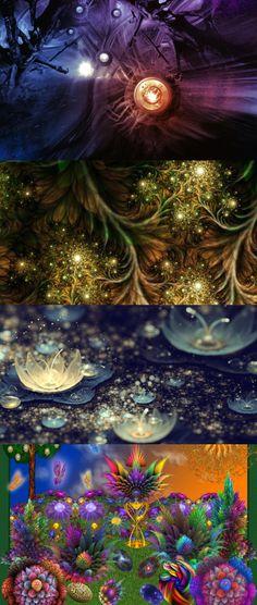 Abstract, fantasy, balloons, glow, flash, pulse