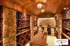 WINE CELLARS. Perfect utilization for back side of a basement