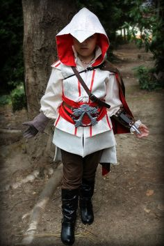 I have received a couple inquiries about making an Ezio costume for children. While I don't have a pre-made pattern (for children or adults), here are some (untested) suggestions for a couple…