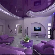 I'd go with a purple room like this!!!