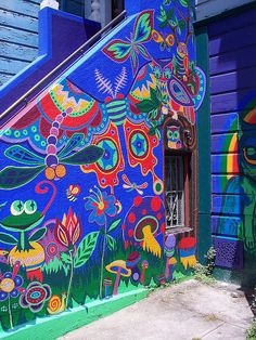 Colored Stairs by Llama Love, via Flickr