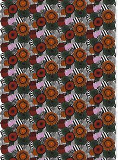 Marimekko fabric - Pieni Siirtulapuutarha - Heavyweight cotton