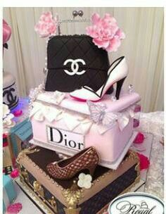 Chanel cake Eigen taarten Pinterest Chanel cake and Cake