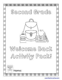 Welcome Back Activity Pack - 2nd & 3rd grade available. Printables that kids can work on independently when you need a few minutes here and there to take care of teacher tasks during the first week.