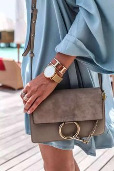 Faye bag / street style fashion Chloe Faye bag / street style fashion Faye Small Leather And Suede Shoulder Bag - Chloé Popular Handbags, Trendy Handbags, Hermes Handbags, Cheap Handbags, Luxury Handbags, Louis Vuitton Handbags, Purses And Handbags, Fall Handbags, Luxury Purses