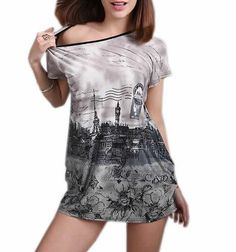 Generic Women's Casual Round Collar Short Sleeves Ice Silk Tops *** This is an Amazon Affiliate link. You can get more details by clicking on the image.