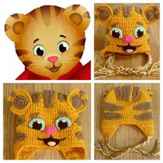 Daniel the Tiger crochet hat!