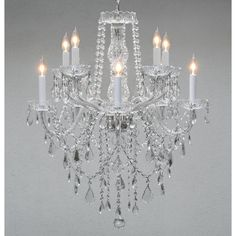 Swag Plug In Swarovski Crystal Trimmed Crystal Chandelier Lighting