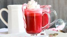 Red velvet just made its way into your hot cocoa cup! Made with melted ice cream and other decadent stuff, this is a ruby-red sip you don't wanna miss.