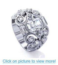 Platinum Plated Sterling Silver Wedding $ Engagement Ring Unique Celtic Design, Square Cushion Cut 2Carat Cubic Zirconia ( Size 5 to 9) #Platinum #Plated #Sterling #Silver #Wedding # #Engagement #Ring #Unique #Celtic #Design #Square #Cushion #Cut #2Carat #Cubic #Zirconia #Size