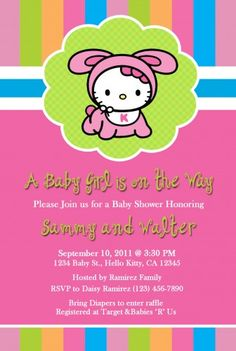 Hello Kitty Baby Shower Invites - 30 Hello Kitty Baby Shower Invites , 17 Best Images About Hello Kitty Zebra Party On Minecraft Birthday Invitations, Kids Birthday Party Invitations, Pink Invitations, Invites, Hello Kitty Baby Shower, Tea Party Baby Shower, Zebra Party, Minnie Mouse Baby Shower, Baby Shower Invitation Templates