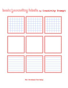 Free Basic Journaling Labels from Creativity Prompt
