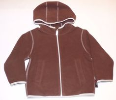 Hanna Andersson Brown Polartec Fleece Hooded Fall Winter Jacket Boys 100 4 4T #HannaAndersson #BasicJacket #Everyday