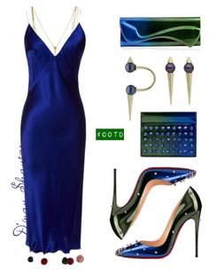 """#OOTD - Natasha Zinko Dress, Christian Louboutin Clutch, Wallet & Pumps"" by adswil ❤ liked on Polyvore"