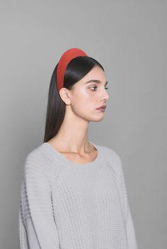 Red Velvet Headband. Made in Italy by #Bluetiful craftmen