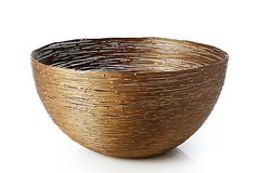 Large Iron Bowl Like a gilded basket woven of iron, this bowl is equal parts ethereal and organic. Understated and elegant with an artisanal vibe. Food-safe. on OneKingsLane.com