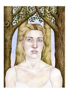 Original Watercolour illustration Portrait of by ChasingtheCrayon, £75.00
