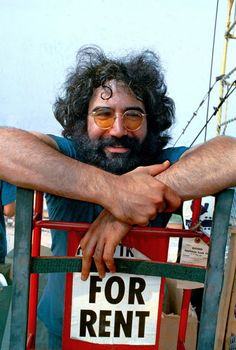 Jerry Garcia at Woodstock 1969.