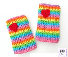The Rainbow Love Legwarmers are and adorable and fun accessory for a little person. Worked up in the round in front post double crochet stitches, they are thick and cozy to keep little legs warm too!