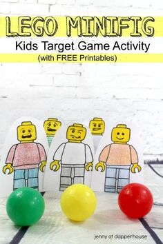 LEGO Minifig Kids Target Game Activity from jenny at dapperhouse #DIY #pregnancyactivitybook,