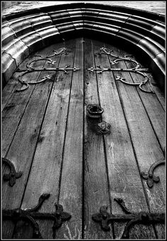Old Church Door,  Beautiful Craftsmanship!