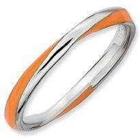 Sunburst Silver Twisted Orange Enamel Stackable Ring. Sizes 5-10 Available Jewelry Pot. $20.99. All Genuine Diamonds, Gemstones, Materials, and Precious Metals. 30 Day Money Back Guarantee. Your item will be shipped the same or next weekday!. Fabulous Promotions and Discounts!. 100% Satisfaction Guarantee. Questions? Call 866-923-4446. Save 67%!