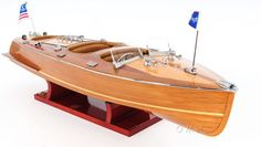 """CaptJimsCargo - Chris Craft Triple Cockpit Runabout Wooden Model 24"""" Speed Boat, (http://www.captjimscargo.com/model-runabouts-speed-boats/chris-craft-triple-cockpit-runabout-wooden-model-24-speed-boat/) Smaller 24"""" version of 100% varnished hull."""