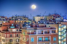 The moon in Rome, Italy | by Paolo Margari on Flickr